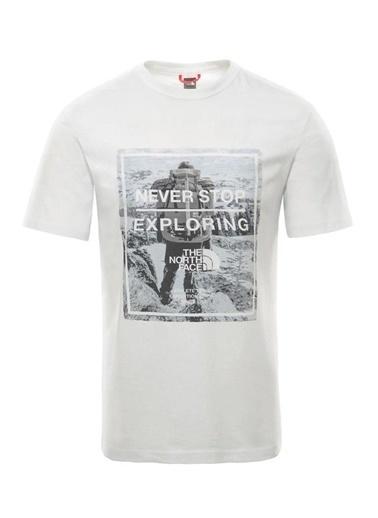 The North Face Graphic Erkek T-Shirt Beyaz Renkli